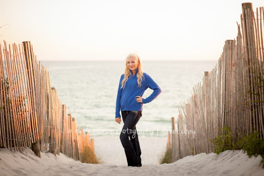 Seaside Watercolor Rosemary beach Florida senior portraits